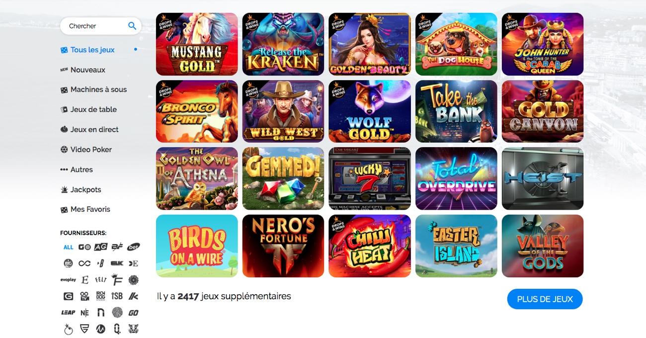 Jeux casino azur